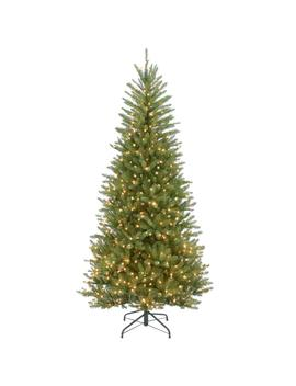 7 1/2 Ft. Dunhill Slim Fir Hinged Artificial Christmas Tree With 600 Clear Lights by National Tree Company