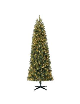 7.5 Ft. Pre Lit Led Manchester Fir Slim Artificial Christmas Tree With 350 Warm White Lights by Home Accents Holiday