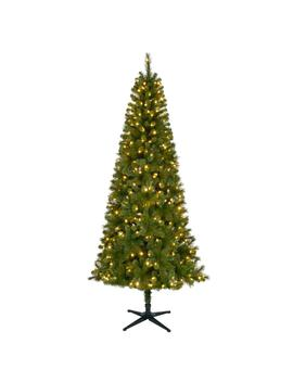 7.5 Ft. Pre Lit Led Wesley Slim Spruce Artificial Christmas Tree With 350 Sure Bright Color Changing Lights by Home Accents Holiday