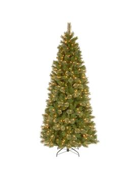 7 1/2 Ft. Tacoma Pine Slim Hinged Artificial Christmas Tree With 500 Clear Lights by National Tree Company