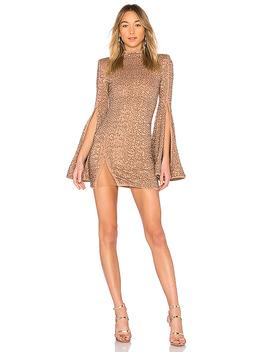 X Revolve Mr. Gibson Mini Dress In Nude by Michael Costello