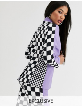 Asos Design X Christian Cowan Lilac Co Ord Suit Blazer by Asos Design