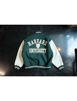 Vintage Harvard University Varsity Jacket, Letterman Jacket (Size L) by Etsy
