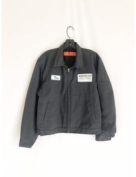 Vintage 70's Industrial Utility Work Jacket. Made In U.S.A. Men's Medium by Etsy
