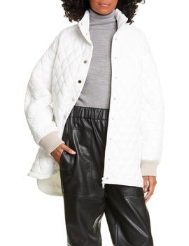 Quilted Car Coat by Tibi
