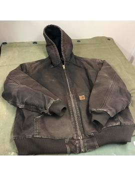 Well Worn And Sun Faded Carhartt Workwear Brown Insulated Vintage Jacket by Etsy