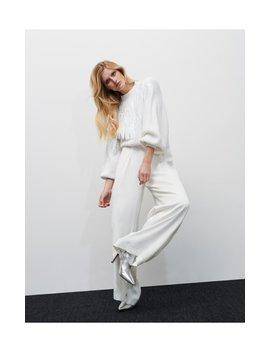 Szerokie Białe Spodnie by Reserved
