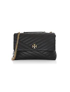 Kira Chevron Leather Shoulder Bag by Tory Burch