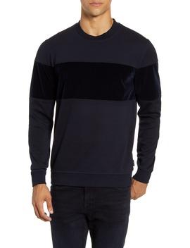 Wander Velvet Panel Sweatshirt by Ted Baker London