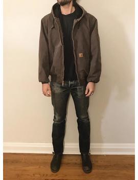 Vintage Carhartt Hooded Mens Jacket by Etsy