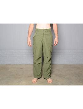 Vintage 50s 60s Army Pants Us Military Cargo 1950 1960 Flight Parachute Olive Green Cold Weather Medium Regular 31 35 Waist by Etsy