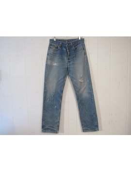Vintage Levis, 1980s Levis, Levis 501 Pants, Vintage Jeans, Denim Pants, Painters Pants, Vintage Clothing, 31.5 X 32.5 by Etsy