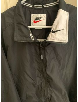 Vintage Nike Windbreaker Huge Logo Colorblock Black/White Size L Retro 90 Swoosh by Nike