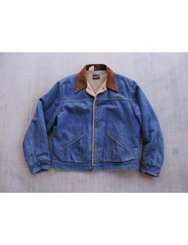 Beat To Hell Rare Vintage Wrangler Dark Blue Jean Denim Jacket Xl by Etsy
