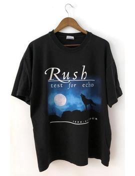 Vintage 90's 1996 97 Black 2 Sided Rush Test For Echo Crewneck T Shirt Tee Concert Tour Rock & Roll Heavy Metal Hard Progressive Canadian Xl by Etsy