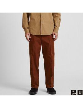 Men Uniqlo U Wide Fit Straight Pants by Uniqlo