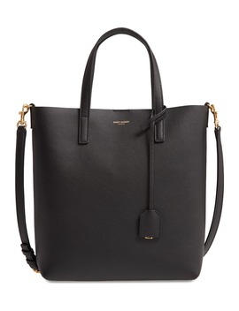 Toy North/South Leather Tote by Saint Laurent
