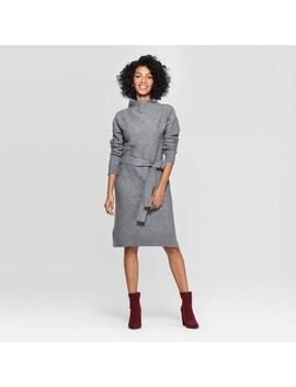 Women's Long Sleeve Mock Turtleneck Neck Sweater Dress   A New Day™ by A New Day