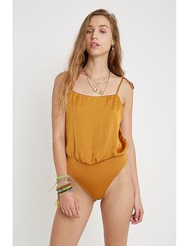 Uo Satin Strappy Bodysuit by Urban Outfitters