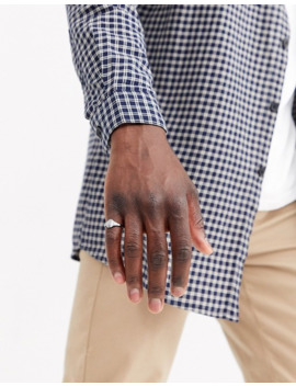 Asos Design Pinky Ring With Emboss In Gunmetal by Asos Design