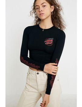 Santa Cruz Uo Exclusive Flame Logo Long Sleeve T Shirt by Santa Cruz