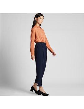 Pantalon DrapÉ À Pince 7/8Ème Femme (L27) by Uniqlo