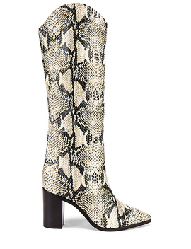 Analeah Boot In Natural Snake by Schutz
