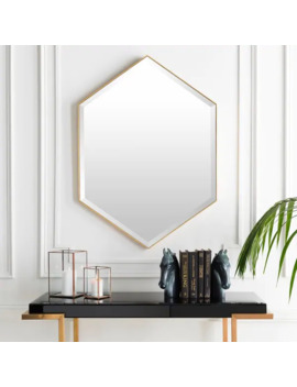 "Conner Hand Gilded Modern Wall Mirror   Gold   30"" X 42"" by Generic"