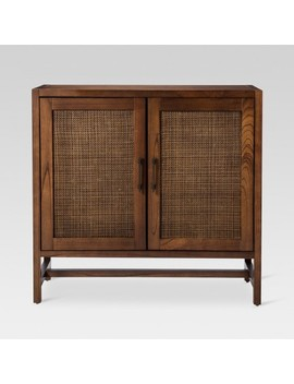 Warwick 2 Door Wood & Rattan Accent Cabinet   Threshold™ by Shop Collections
