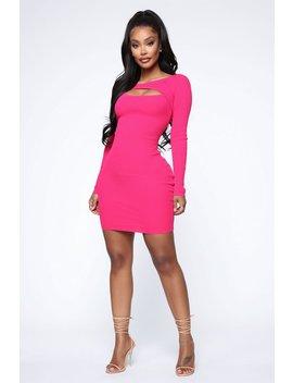 Cold Hearted Ribbed Mini Dress   Fuchsia by Fashion Nova