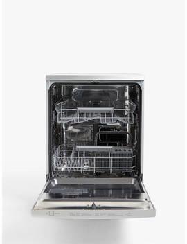John Lewis & Partners Jldws1328 Freestanding Dishwasher, Stainless Steel by John Lewis & Partners