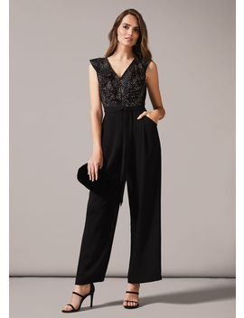 Garcia Star Print Jumpsuit by Phase Eight