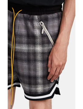 Plaid Cotton Flannel Basketball Shorts by Rhude