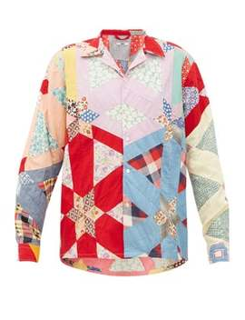 Havana Patchwork Cotton Shirt by Bode