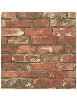 Red West End Brick Peel And Stick Wallpaper by Nu Wallpaper
