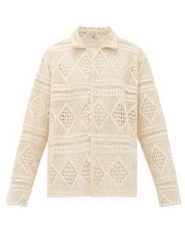 Havana Cotton Crochet Lace Shirt by Bode