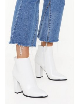 Pu Heeled Ankle Boots by Nasty Gal