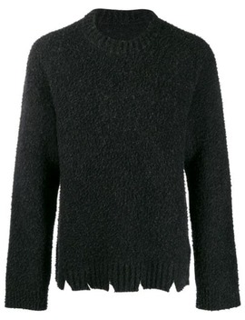 Distressed Chunky Knit Sweater by Maison Margiela