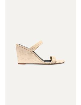 Vivienne Croc Effect Leather Mules by Diane Von Furstenberg
