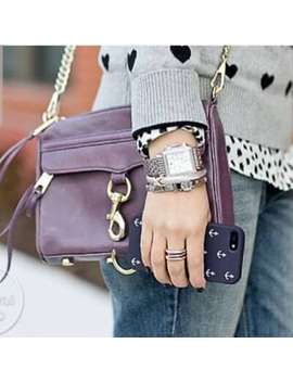 Rebecca Minkoff Purple Mini Mac Crossbody by Ebay Seller