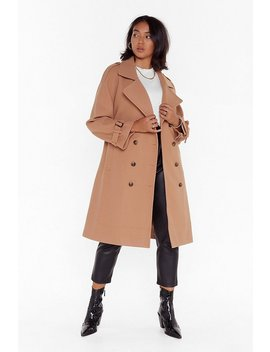 Fall Into Fall Plus Belted Coat by Nasty Gal