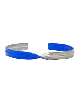 Silver & Blue Twist Bracelet by Maison Margiela