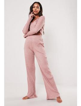 Blush Rib Mix And Match Loungewear Bottoms by Missguided