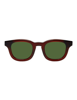 Burgundy & Green Monopoly 101 Sunglasses by Thierry Lasry