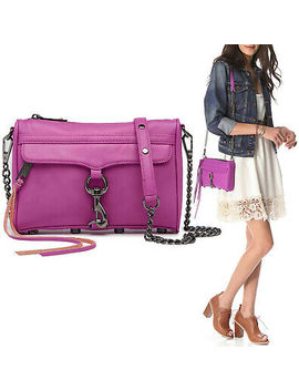 Nwt $195 Rebecca Minkoff Mini Mac M.A.C. Leather Crossbody Bag Purse In Orchid by Ebay Seller
