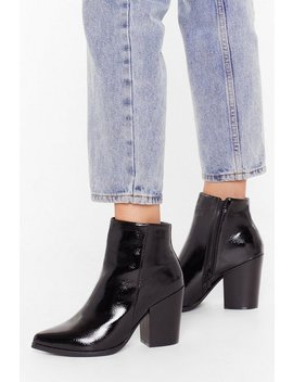 Save Your Sole Faux Leather Patent Boots by Nasty Gal