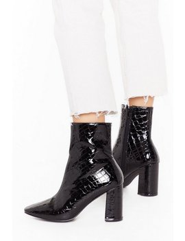 These Boots Are Made Wide Fit Patent Boots by Nasty Gal