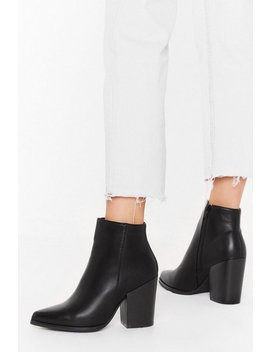 Save Your Sole Faux Leather Ankle Boots by Nasty Gal