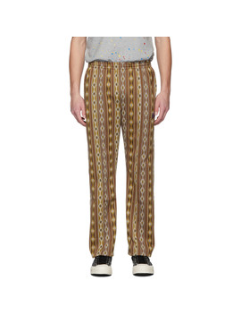 Brown Jacquard Track Pants by Needles