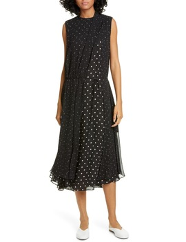 Mix Dot Sleeveless Dress by Vince
